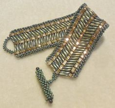 PATTERN Tila Half with bugle beads cuff style door BaublesbyBalonis