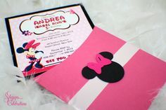 Cute Minnie Mouse Birthday Invitations by SDezigns on Etsy