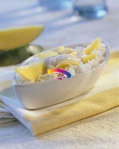 Riso al mango e cocco | Cucinare Meglio