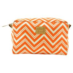 tangerine orange cosmetic case