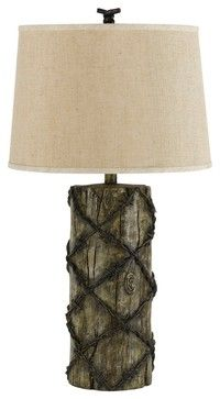 Turquoise accent southwest iron table lamp with shade a contemporary barb wire rustic table lamp contemporary table lamps greentooth Choice Image