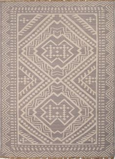 Batik Yao Medium Gray/Floral White Area Rug from FROY