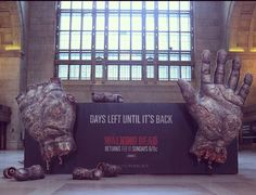"""""""Walking Dead"""" Ad Installation: Everyday a finger gets cut off."""