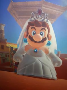 BEST COSTUME IN THE GAME XDDDDD (peachs wedding dress XD)