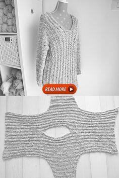 Crochet Tunic Pattern, Crochet Cardigan, Crochet Shawl, Free Crochet, Knitting Patterns, Knit Crochet, Top Pattern, Basic Crochet Stitches, Crochet Basics