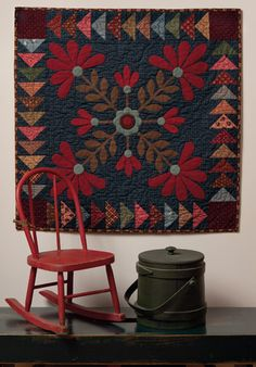 Martingale - Elegant Quilts, Country Charm (Print version + eBook bundle)Elegant Quilts, Country Charm - Applique Designs in Cotton and Wool By Leonie Bateman, Deirdre Bond-Abel Wool Applique Quilts, Applique Quilt Patterns, Wool Quilts, Felt Applique, Applique Designs, Machine Applique, Machine Embroidery, Embroidery Designs, Appliqué Quilts