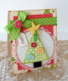 LOVE this xmas card made by Katie Gehring on the Moxie Fab World blog.