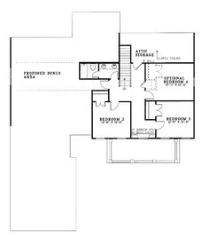 Coastal Colonial House Plan 61024 Level Two