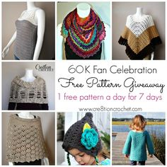 Free Pattern Giveaway on Cre8tion Crochet.  One new pattern a day for 7 days.
