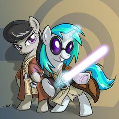 Jedi Ponies  by ~GiantMosquito on deviantART Star Wars/MLP
