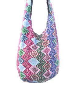 Shoulder Bag Sling Thai Hippie Hobo  Multicolor by Avivahandmade