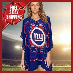 Limited Edition, Officially Licensed New York Giants Caftan