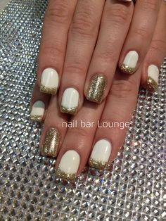 Gold Finger #nails #naildesign #french #frenchmani