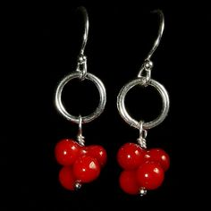 RED CORAL EARRINGS - Handcrafted Coral Jewelry Collection - Jewel of Havana Handcrafted Jewelry