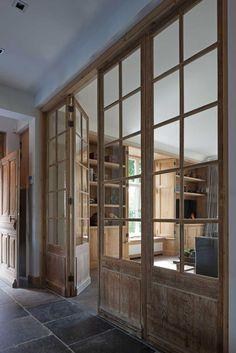 Looking for new trending french door ideas? Find 100 pictures of the very best french door ideas from top designers. Divider Design, Door Design, House Design, Divider Ideas, Design Hotel, Style At Home, Br House, Window Wall, Door Wall