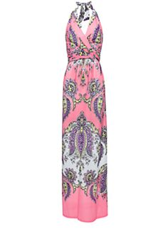 Maxi-dress halter neck. Want for vacation!