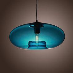 60w nowoczesny wisiorek światła w szkło bańki projektowania niebieski – USD $ 199.99