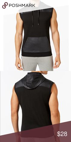 Men's INC Hoodie Vest • Size Medium MSRP $49.50 A nice hoodie vest by INC for men - brand new with tags attached MSRP $49.50 size Medium. Perfect for the gym, lounge, running errands, etc! price is firm INC International Concepts Jackets & Coats
