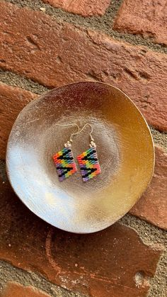 Chubbeadrings Contrast Pride Symbol Beaded Earrings By Chubbeadrings by chubbybeadedearrings on Etsy