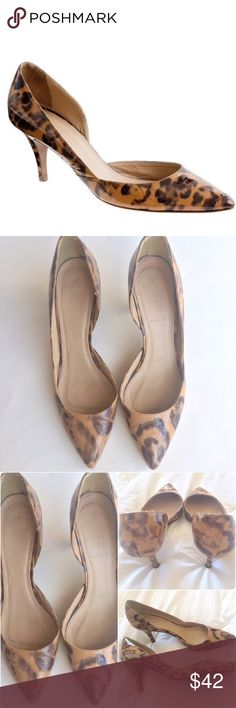 J. Crew Valentina Printed Patent D'Orsay Pumps Beautiful yet practical... Made in Italy J. Crews Valentina printed patent pump. 2.5 in heel, D'Orsay style vamp. Print is a sassy animal print in walnut. Size 9.. TTS in my opinion .. Although no stretch due to material. Tiny nick on back of left heel.. NO OFFERS🚫PRICE FIRM🚫BUY ITNOW OPTION ONLY🚫I ONLY TRADE FOR CASH😉 J. Crew Shoes Heels