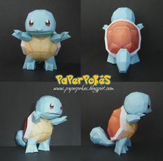 Paperpokés - Pokémon Papercraft: SQUIRTLE