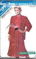 Vintage Butterick SEWING Pattern Jacket Top Skirt SEE SEW EASY 6 8 10 12 14 6523
