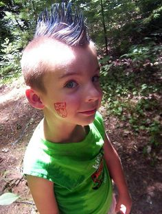 gutter punk <3 by sadie.may, via Flickr - safely dying your kids hair Offbeat Home