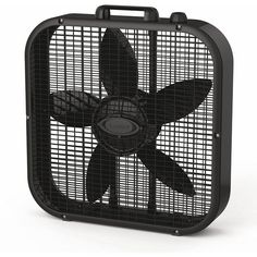 Lasko Box Fan, Black ($30) ❤ liked on Polyvore featuring home, home decor, fans, standing fans, fillers and black