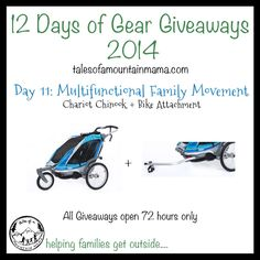 12 Days of Gear Giveaways: Day 11 - Chariot Chinook | Tales of a Mountain Mama