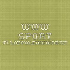 www.sport.fi Loppuleikkikortit