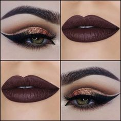 Love these great hazel eye makeup Image# 2292 Hazel Eye Makeup, Eye Makeup Tips, Makeup Goals, Makeup Geek, Beauty Makeup, Hazel Eyes, Makeup Ideas, Gorgeous Makeup, Pretty Makeup