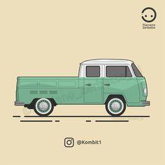KombiT1: VW T2 Pickup Flat Design