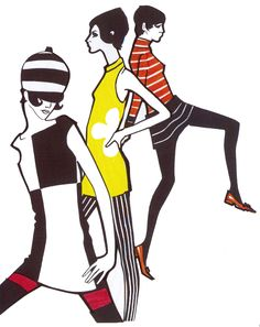 Mod •~• fashion illustration