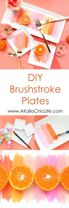 Craft It - Brushstroke Plates. abstract art, diy, party, brunch, spring