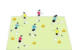 Soccer: Flag Soccer Game