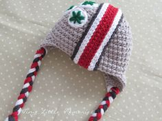 OSU Buckeye Helmet Hat, Ohio State Baby - Made to Order - Newborn, Up to 12 Months on Etsy, $38.00
