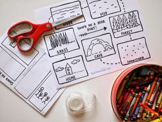 We are going on a Bear Hunt- Make a visual map of the places (with free printable)
