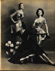 Vintage Photography: Jean Patchett, Dovima and Suzy Parker by Constantin Joffé 1955
