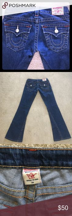 True Religion Jeans Excellent condition! No flaws!  Low rise! Joey style!! Great price!!!! Priced to sell. Tags: Hollister. Free People. Boho. Gypsy. Festival. Hippy. Beach. PINK. Banana Republic. Buckle. H&M. American Rag. Pac Sun. Forever 21. RipCurl. Levi's. Vintage. Fossil. Victoria's Secret. Urban outfitters. Please Check out my adorable other listings! Happy Shopping! True Religion Jeans Boot Cut
