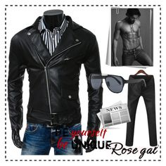 """""""Rosegal Jacket"""" by lejla150 ❤ liked on Polyvore featuring men's fashion, menswear, rosegal and rosegalfashion"""