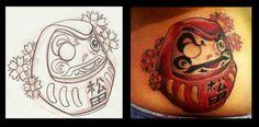 Daruma tattoo by AbrahamGart.deviantart.com on @DeviantArt