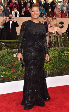 Queen Latifah in Michael Costello at the SAG Awards 2016: Red Carpet Arrivals | E! Online