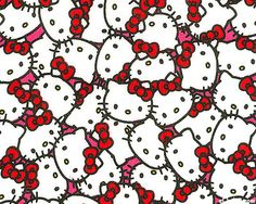Hello Kitty - Collage Of Cute - White