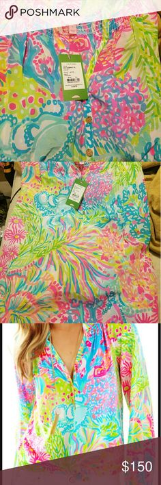 Lilly Pulitzer Elsa Top in Lovers Coral size XL Brand new/never worn Elsa Top in Lovers Coral. Site picture added so you can see the top's true color! Lilly Pulitzer Tops Blouses