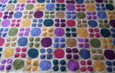 Big Dots, Little Dots Crocheted Blanket