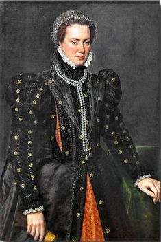 Portrait by Antonis Mor of Margaret of Parma (28 December 1522 – 18 January 1586), who was Governor of the Netherlands from 1559 to 1567 and from 1578 to 1582. She was the illegitimate daughter of the then 22-year-old Holy Roman Emperor Charles V and Johanna Maria van der Gheynst. She was a Duchess of Florence and a Duchess of Parma and Piacenza by marriage.