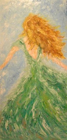 """Title: """"Windy Day"""", Oil Painting by ZsaZsa Bellagio"""