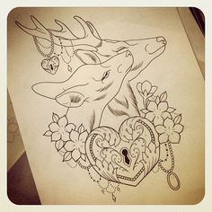 12 Awesome Buck and Doe Tattoo Designs S Tattoo, Buck Tattoo, Tattoo Motive, Samoan Tattoo, Polynesian Tattoos, Pretty Tattoos, Love Tattoos, Beautiful Tattoos, Body Art Tattoos