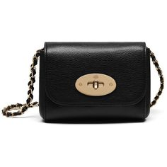 Mulberry Mini Lily (€450) ❤ liked on Polyvore featuring bags, handbags, black, mini handbags, mini purse, mulberry purse, chain strap crossbody purse and miniature purse