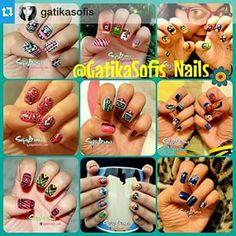 Instagram photo by gatikasofis_nails - #Repost @gatikasofis ・・・ Quieres ver mas diseños de unas??? Sigue a :  @gatikasofis_nails  @gatikasofis_nails  @gatikasofis_nails  @gatikasofis_nails  @gatikasofis_nails  #GatikaSofisNails #NailArt #LoveNails